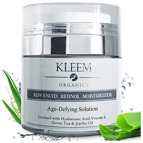 Kleem Organics | BIO Retinol Serum & Anti Falten Creme | Retinol Creme | Gesichtscreme Damen, Gesichtscreme Männer, Feuchtigkeitscreme, Anti Aging Creme Frauen, Serum...