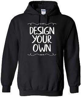 Gildan Men's Heavy Blend Fleece Hooded Sweatshirt, Custom Design Your Own