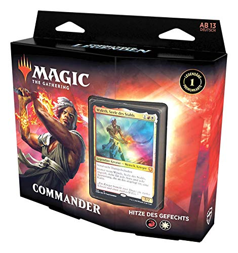 Magic: The Gathering Commander-Legenden Commander-Deck - Rüste dich für den Kampf, Spielfertiges Deck mit 100 Karten, Rot-Weiß