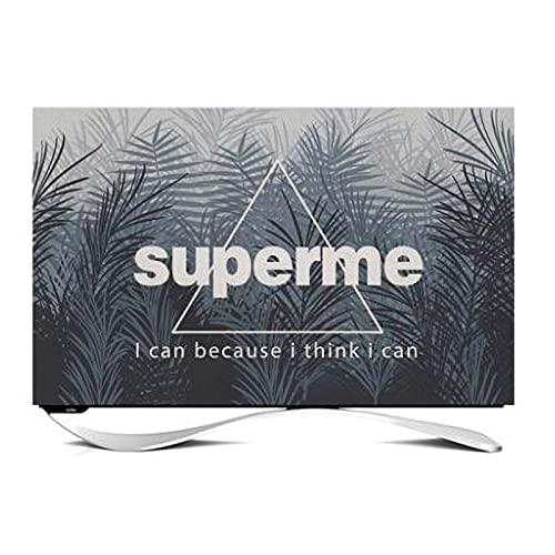 Tv Dust Cover 70in/75in Opknoping Type Gebogen Computer Televisie Cover Doek Kunst Muur Opknoping Voor LCD LED Indoor…