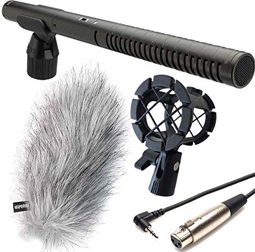 Rode NTG-2 - Micrófono direccional + araña Keepdrum PCMH1 + MC-025XJ TRS/XLR + cable de cámara + protector de viento WSWH