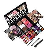 74 Colores Paleta de Sombras de Ojo Kit, Profesional Caja de Maquillaje de Sombras de Ojos, Maquillaje de Regalo Set Incluye Sombra de Ojos, Polvo de Cejas, Coloretes, Silueta en Polvo