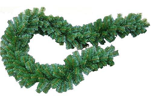 FKL Weihnachtsgirlande Dicke Tannengirlande Weihnachtsdeko Grüne Tannenzweige 300cm (240 Spitzen)