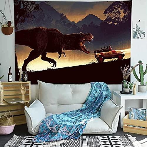 Tapiz De Dinosaurio Jurásico Mural Tapiz Hippie Ropa De Cama Bohemia Bohemia Manta De Playa Manta De Yoga Alfombra De Meditación Cubierta De Cama Queen 200X150Cm
