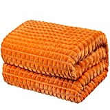 """Throw Blankets – 50""""x60"""", Amberglow - Lightweight Flannel Fleece - Soft, Cozy - Perfect for Bed, Sofa, Couch"""