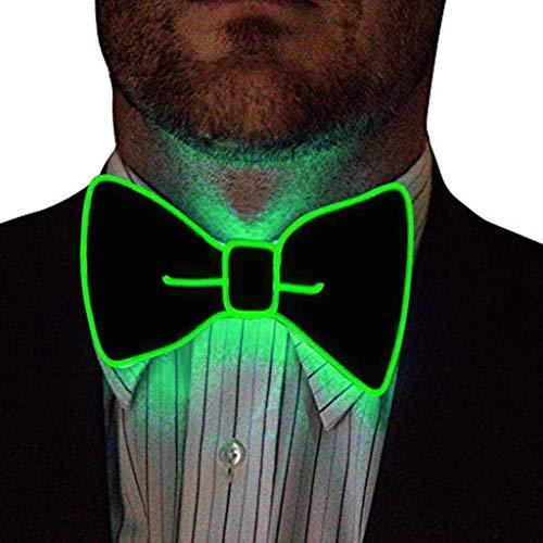 Fenverk Leuchtend Krawatte Neuheit Einstellbar EL Draht Led Aufhellen Leuchtende Fliege Mode MäNner Neon Blinklicht FüR Club Cosplay Abend Party Dekoration(B Mehrfarbig)