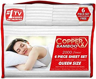 CopperX King 6pieces Bed Set (White)