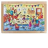 Beleduc - 12003 - Puzzle con Marco - Fiesta de cumpleaños - 24 Piezas