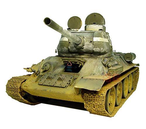 X-Toy El Tanque Militar Puzzle Kits Modelo, 1/16 Escala WWII Soviética T34-85 Tanque Rompecabezas Modelo, Juguetes De Los Niños, 19.9Inch