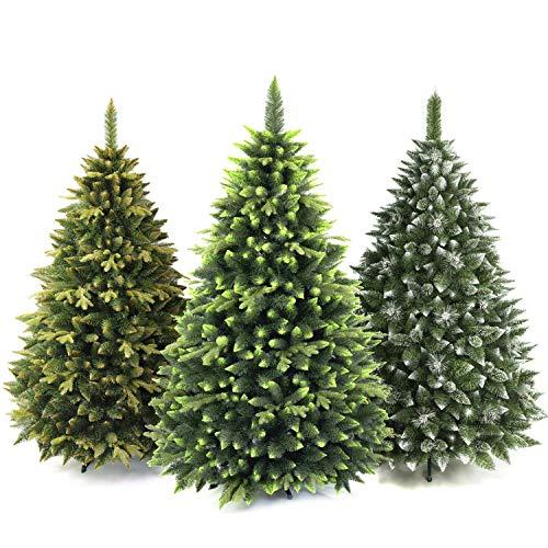 AmeliaHome 07843 220 cm Künstlicher Weihnachtsbaum PVC Tannenbaum Christbaum Kiefer Klaus Weihnachtsdeko
