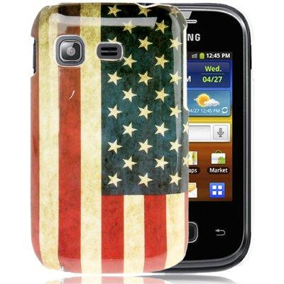 Rocina HardCase Beschermhoes voor Samsung S5300 Galaxy Pocket Retro Vlag Amerika