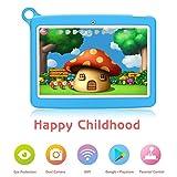 Padgene Tablette 10 Pouces pour Enfants, Tablette Android 8.1 avec Écran Tactile Quad Core IPS 1280x800, Double WiFi 2G / 3G, Caméra de 0.3 + 2.0MP (1G+16G, Bleu)