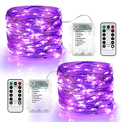 Halloween Guirnalda de luces con Pilas, BrizLabs 60 LED Cadena de Luces...