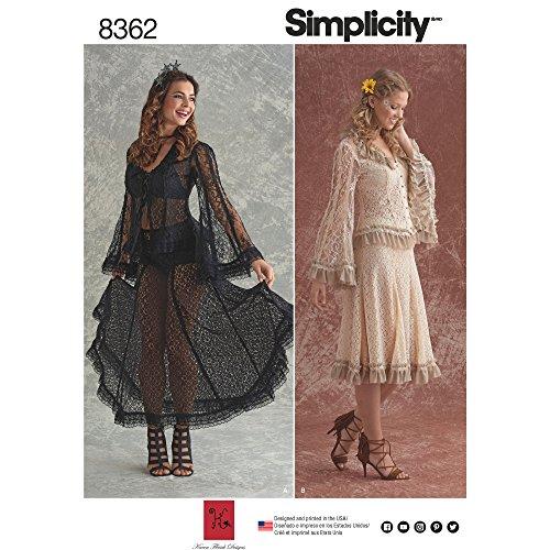 Simplicity Schnittmuster 8362 für Damenblusen und -röcke, Größen 42-50