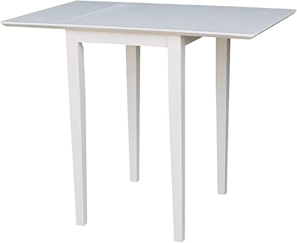 International Concepts T08 2236D Small Dropleaf Dining Table White
