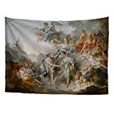 Greek Mythology Classic Art Masterpiece Tapestry Series Francois Boucher Cupid and Psyche Charles Le Brun Classical Art Tapestry Antique Vintage CollectionHome Décor