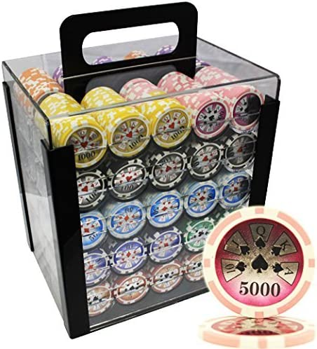 MRC 2021new shipping free shipping 1000pcs High Roller Laser Poker Chips Sale special price Case Acrylic with Set