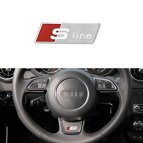 L&U S-Line Logo Lenkrad Innen Aufkleber Aufkleber, Selbstklebende PVC-S Line Badge für Audi A3 A4 A6 Q5 Q7 Q3