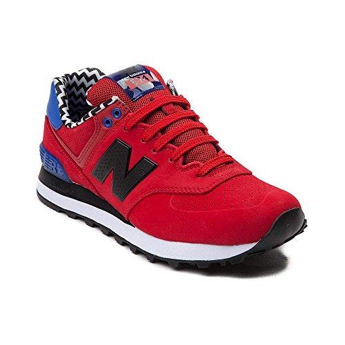 New Balance Women's 574 Fashion Sneaker (Womens 5, Red 1443)
