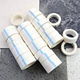 MotBach 30 Pack White Eyelash Tape, Farbic Tape for Eyelash Extension Supply, Unser Eye Gel Pads, Adhesive Tape for Eyelash