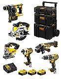 DeWALT Kit DWK600 (DCD796 + DCH273 + DCG405 + DCF887 + DCS331 + DCS391 + 3 Batterie 5,0 Ah + Caricabatterie + Caddy 3en1)