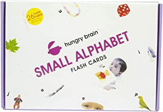 Hungry Brain Small Alphabets Flash Cards for Teaching Kids- A Playful Learning for 1yr-4yr Kids