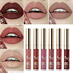 Beauty Shopping 6pcs Matte Velvety Liquid Lipstick Matte Liquid Lipgloss Waterproof Lip Gloss