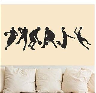 Salon Chambre Décoration Murale Stickers Muraux Basketball Équipe Salle de Jeu Joueur Sport Art Costume Chambre Affiche Mu...