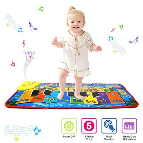Tapis de jeu pour piano PROACC, Jouet de tapis de musique pour piano pour enfants, tapis de danse drôle de grande...