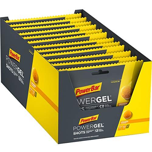 Power Bar PowerGel Shots Orange 24x60g - High Carb Energy Gums + C2MAX - Vitamin B6