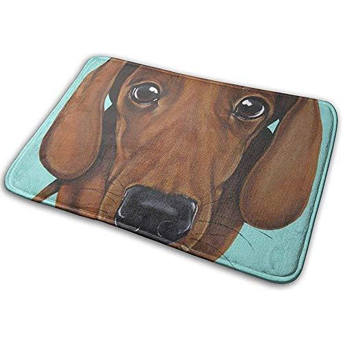 N/A antislip badmat sneldrogende badmat voor badkamer machinewas vloertapijt tekkel hond mintgroen