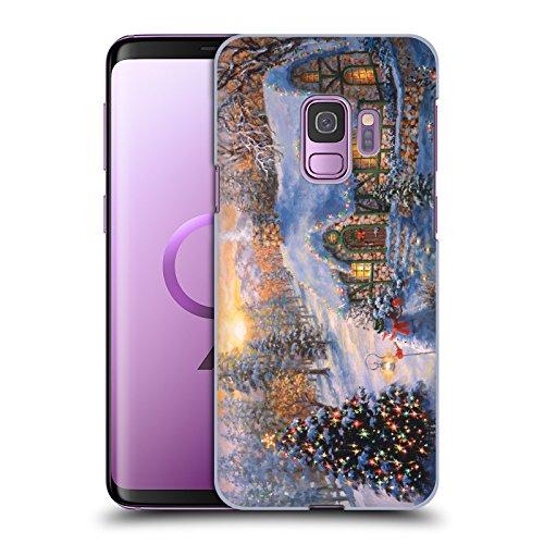 Head Case Designs Offizielle Christmas Mix Nicky Boehme Cottage 2 Winterlandschaft Harte Rueckseiten Huelle kompatibel mit Samsung Galaxy S9