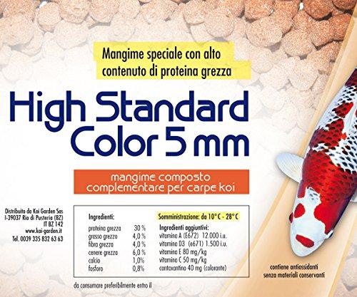 Mangime per pesci da laghetto pesci rossi e koi - High standard color 4,5 litri galleggiante