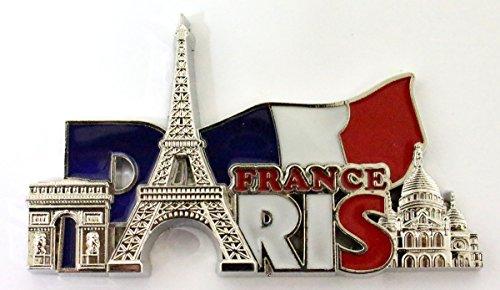 AKER Magnet Aimant frigo Cuisine Souvenir France Paris métal Cadeaux G184AR 9X5cm