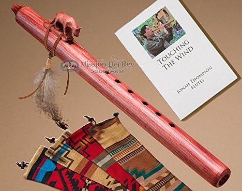 Native American Navajo Flute & Bag -Mt. Lion