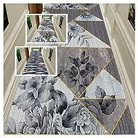 CnCnCn エントランス 玄関マット 廊下 カーペット ランナー クリスタルスエード エリアラグ カスタムサイズ フロアマット (Color : B, Size : 120x600cm)