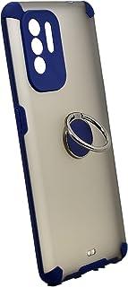 جراب حامل معدني مغناطيسي لهاتف Oppo A94 (أزرق)