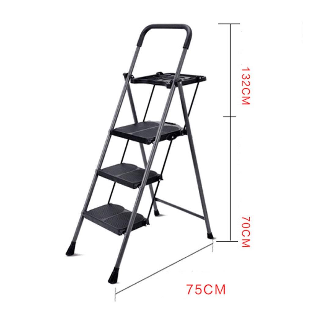 Escalera plegable de cuatro pasos para el hogar Escalera de espiga Pedal ancho de ingeniería Taburete para escaleras Escalera de espiga plegable para el hogar Pedal ancho Pedal antideslizante: Amazon.es: Hogar