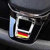 DENGD Car Styling Volante Cubiertas Pegatinas Accesorios para Volkswagen Golf 7 GTI MK7 Polo 2014 2015 Passat B7 2015 B8 MK6 Jetta
