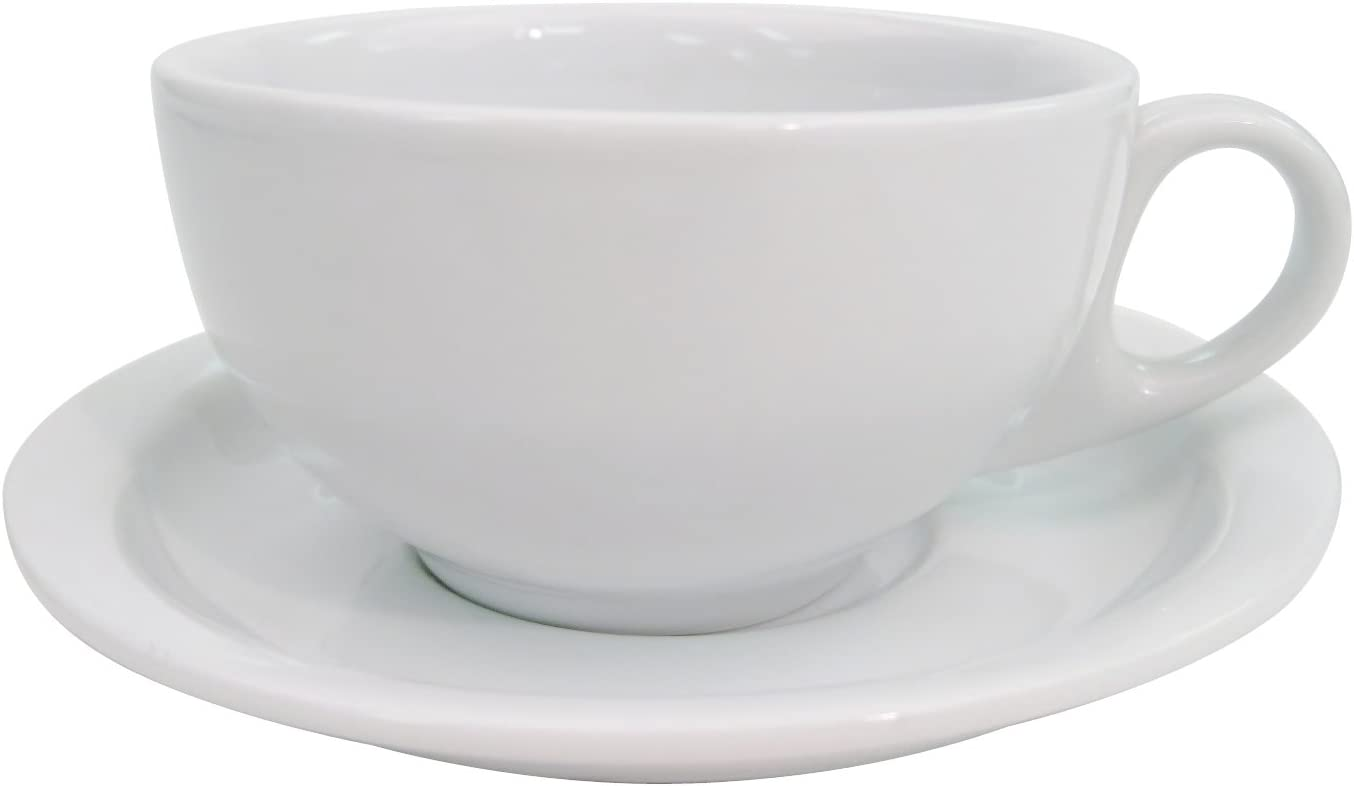 CAC China LV-2-R 6-Inch Las Vegas Rolled Edge Stoneware Saucer Box of 36 Red