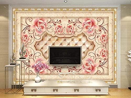 ZZXIAO Papel pintado de piedra de azulejos Papel pintado Mural de pared moderno Pared decorativa Decoración Fotomural sala Pared Pintado Papel tapiz no tejido-400cm×280cm