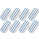 TOPNEW 8 Pack Replacement Steam Mop Pads Compatible PurSteam PurSteam Steam Mop Cleaner ThermaPro 10-in-1