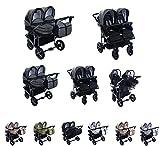 Clamaro 'Gemini' 3in1 Kombi Zwillingskinderwagen System mit 2x Babywanne,...