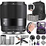 Sigma 30mm f/1.4 DC DN Contemporary Lens for Canon EF-M with Altura Photo...