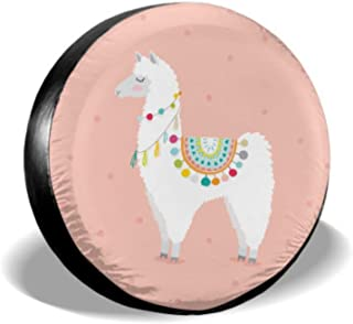 Chawzie Cute Llama Cartoon Baby Lama Fashion Wheel Cover Protector Car Wheel Protector Tire Cover Waterproof Uv Sun 14 - 17 Fit for Jeep Trailer Rv SUV and Many Vehicle