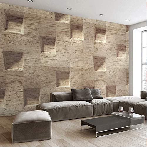 Wallpaper Wall Mural Wallpaper For Walls 3d Stereoscopic Abstract Square Wood Grain Large Murals Non Woven Wall Painting Wallpaper 430cm 300cm Amazon Com