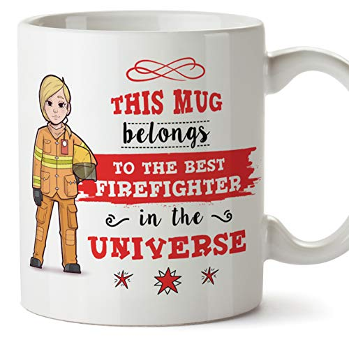 MUGFFINS firefighter. Original Mug cup This mug belongs to the best Firefighter in the universe - 11 oz Ceramic