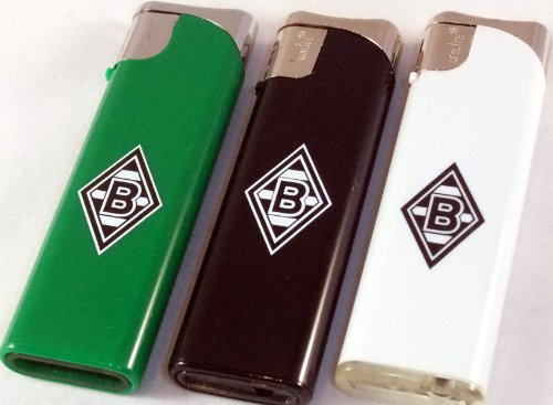 Borussia mönchengladbach sET de 3 s briquet rechargeable «nouveau» bMG