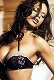 Adriana Lima Poster, sexy Pose in schwarzem BH, 60 x 91 cm