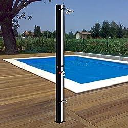 Questa doccia solare sfrutta l'energia solare per produrre acqua calda e godere dell'esperienza unica di fare la doccia all'aperto. Adatta per piscine all'aperto, giardini e campeggio e adatta per l'estate. Per farla funzionare non vi è bisogno di ne...